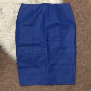 ASOS Faux Leather Blue Skirt